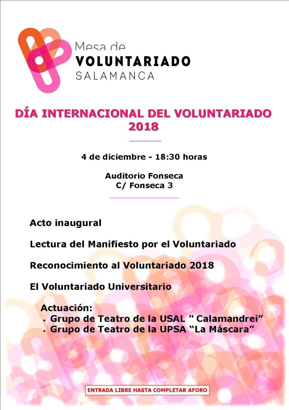 Día Internacional Del Voluntariado 2018